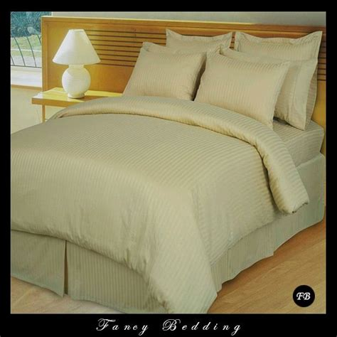 beige down comforter tan beige damask stripe collection 600 thread count this