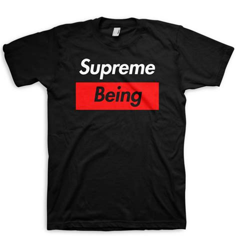 supreme being supreme being t shirt supreme spoof