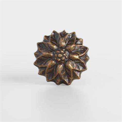 Flower Knobs by Bronze Flower Knobs Set Of 2 World Market