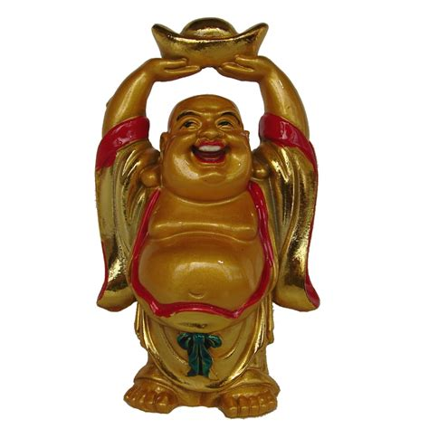 Feng Shui Affiliate Programs by Chinese Buddha Statue W Hands Up Carrying Ingot