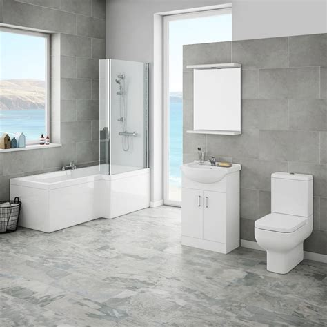 Modern Bathroom Suites Uk Cove Modern Shower Bath Suite Plumbing Uk Customer Reviews