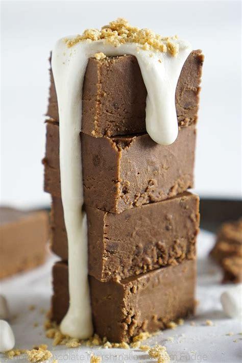 marshmallow cream fudge and marshmallow cream fudge on