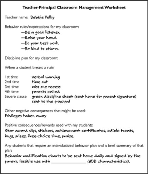 Emotional Wellness And A Safe Environment Classroom Management Plan Template 2