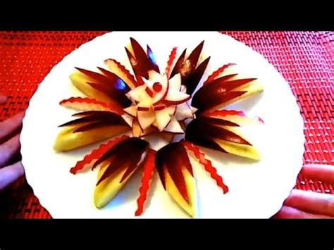 decorative apple cutting how to cut apple beautiful art in apple fruit carving