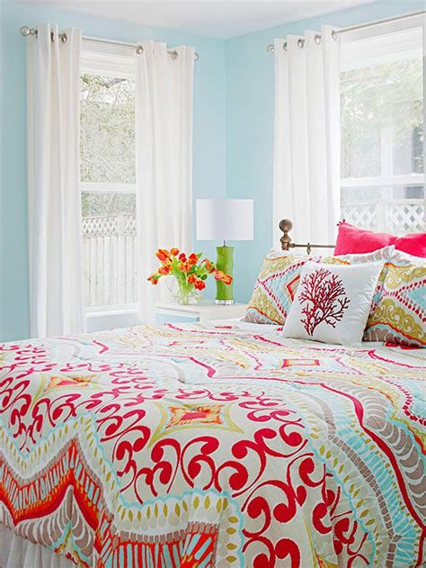 colorful bedroom curtains real life colorful bedrooms guest rooms love this and