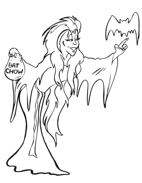scary witch coloring sheet coloring pages