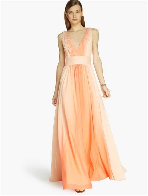 Warehouse Ombre Print Dress by Ombre Printed Gown In Orange Lyst