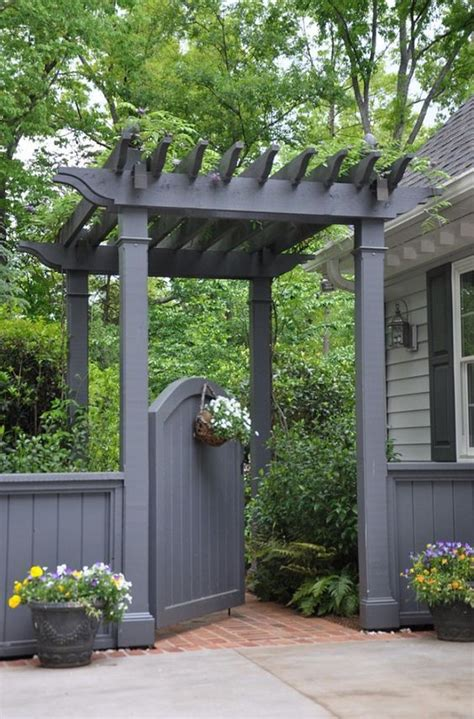pergola gate designs sweet and spicy bacon wrapped chicken tenders pergolas garden gate and gardens