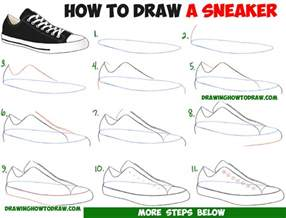 How To Draw A Step By Step Easy How To Draw Sneakers Shoes With Easy Step By Step