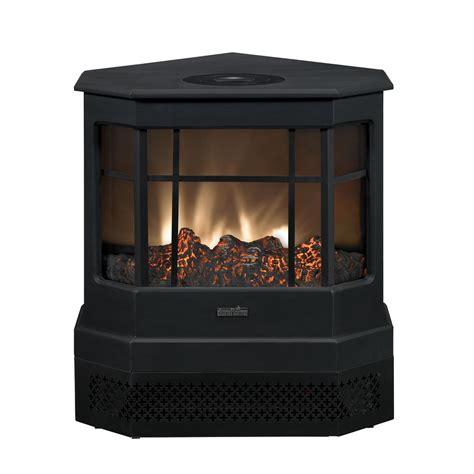 duraflame electric fireplace heater shop duraflame 23 43 in black electric stove at lowes
