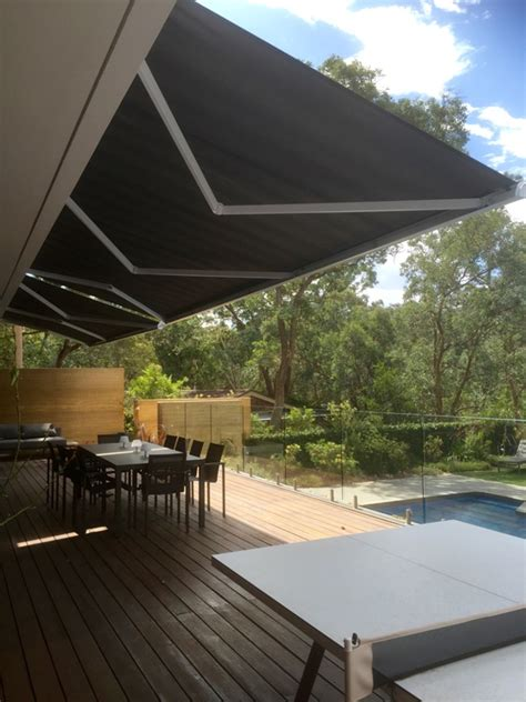 folding arm awnings melbourne folding arm awnings external screens melbourne vic