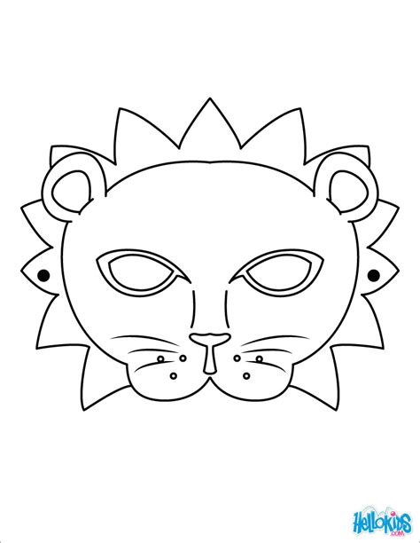 coloring page lion face lion mask coloring pages hellokids com
