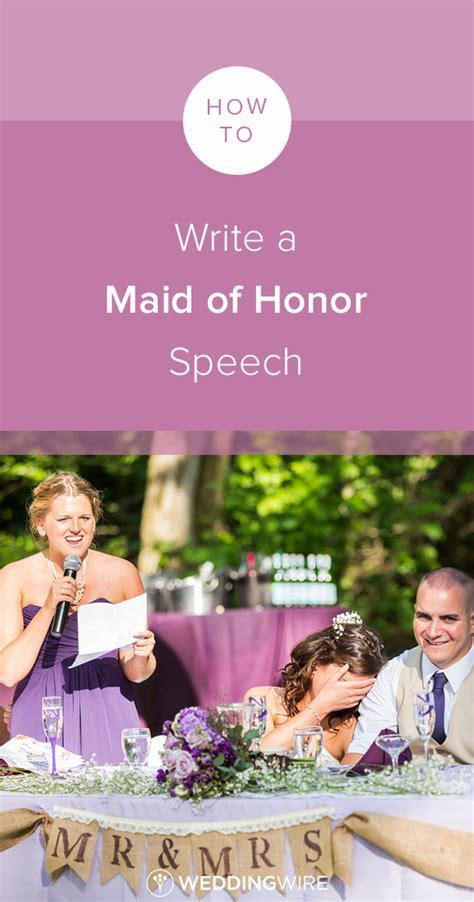 How to Write a Maid of Honor Speech   Wedding Etiquette