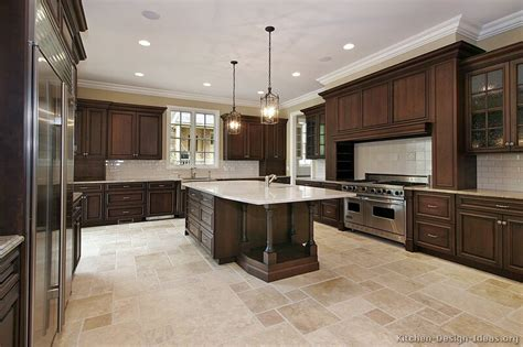 kitchen design pictures dark cabinets a large luxury kitchen design with dark walnut stained