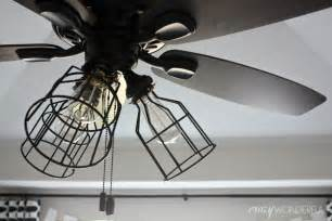 wonderful diy cage light ceiling fan
