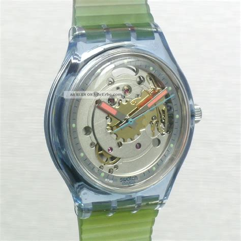 Fossil Matic Blue swatch automatic blue matic san100 ungetragen in