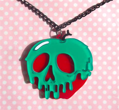 snow white poison apples vintage red apple metal canisters snow white s poison apple necklace double layer laser cut