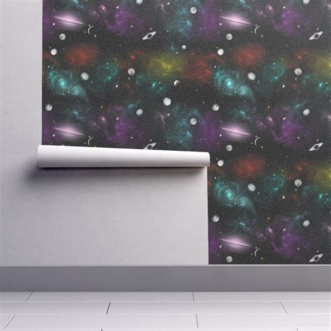 galaxy wallpaper roll galaxy stripes wallpaper creativefiasco spoonflower