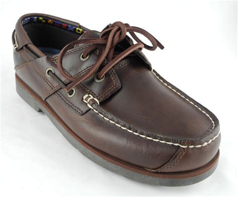 loafer boat shoes mens timberland atlantic edge brown leather deck boat