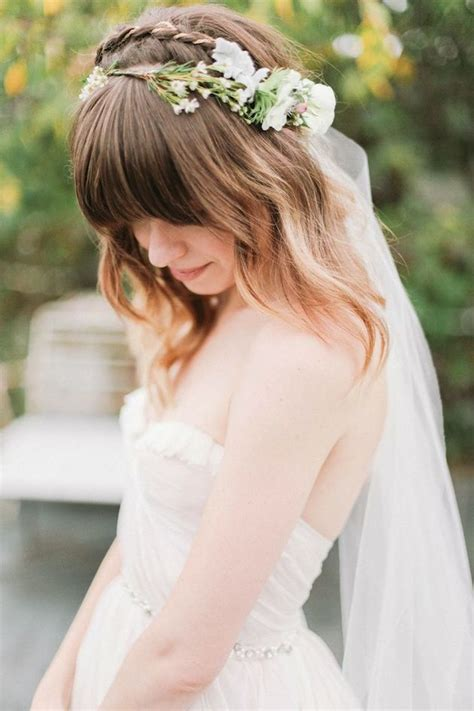 Wedding Hair With Bangs by 15 Sweet And Wedding Hairstyles For Medium Hair