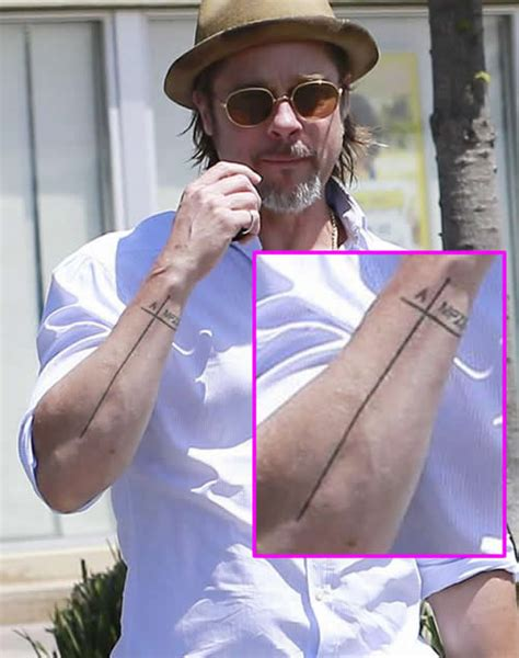 brad pitts tattoos brad pitt shows never before seen arm inspired