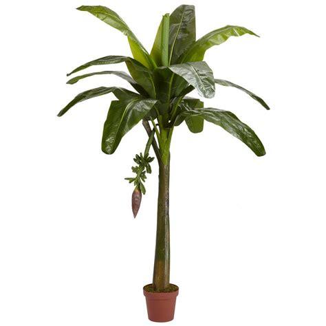 Bild Mit Echten Pflanzen by Nearly Real Touch 6 Ft Green Banana Silk Tree