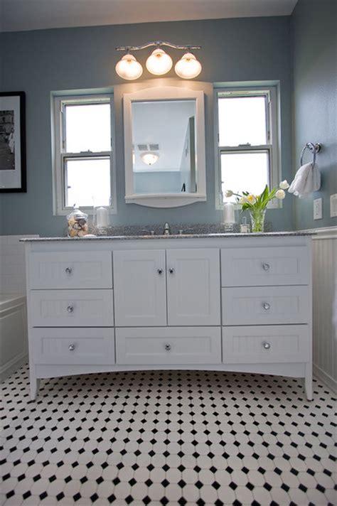 traditional black  white tile bathroom remodel traditional bathroom los angeles