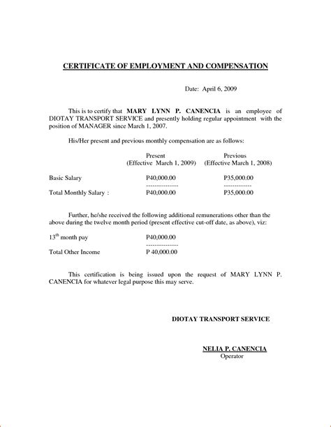 5 Certificate Of Employment Template Bookletemplate Org Certificate Of Employment Template