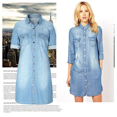 How to wear a long sleeve denim dress ? Dress online uk