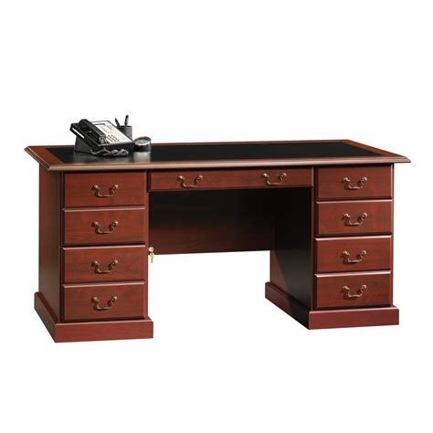 sauder executive desk shop sauder heritage hill classic cherry executive desk at lowes