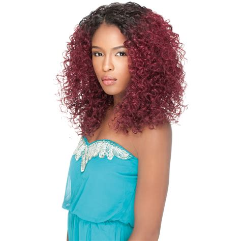 Wig Axela Curly 3 sensationnel synthetic empress lace front edge l part curly wig ebay