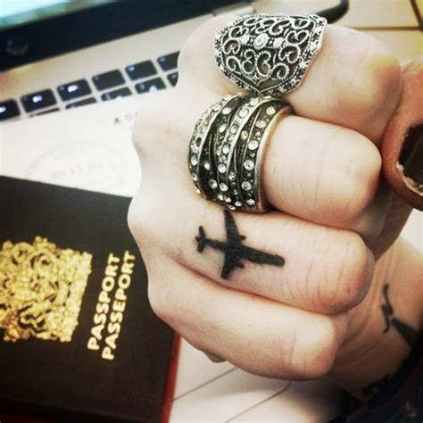 finger tattoo airplane 41 best tattoo ideas for travelers images on pinterest