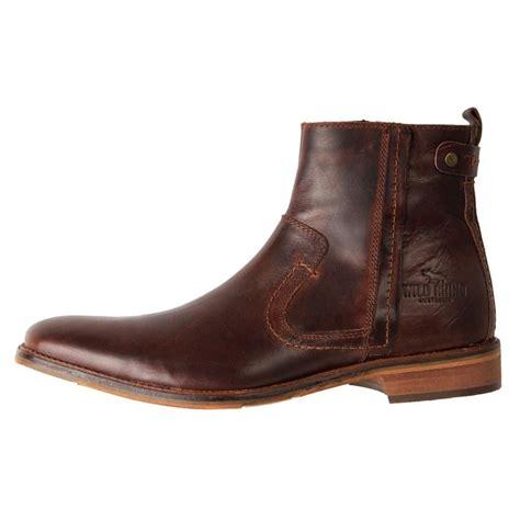 ebay boats devon brand new wild rhino men s leather smart casual zip ankle