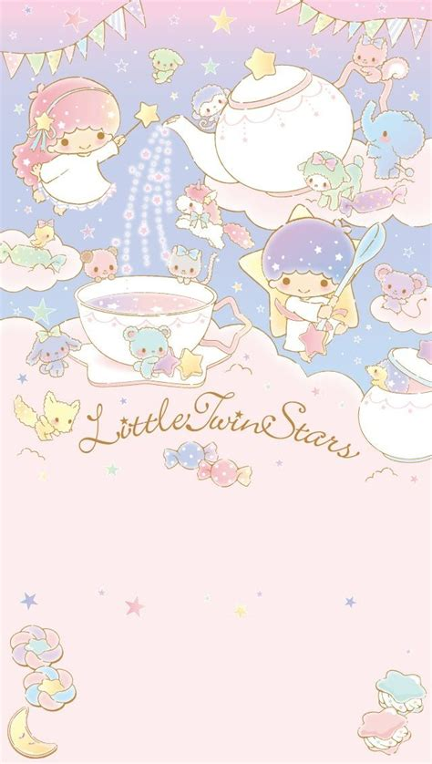 theme line android little twin star 画像 キキララ リトルツインスターズ スマホ壁紙 サンリオ 待ち受け littletwinstars