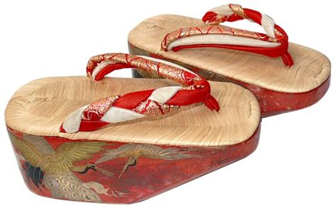 traditional japanese sandals japanese maiko traditional lacquered shoes pokkuri 1930