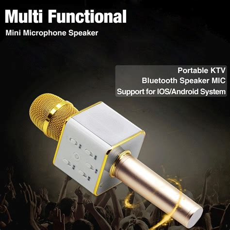Mic Bluetooth Karaoke Mic Q10 Mic Mic Ktv Wireless Microphone q9 q7 q10 ws858 ws878 mic karaoke bluetooth speaker microphon wireless ktv recording 1m warranty