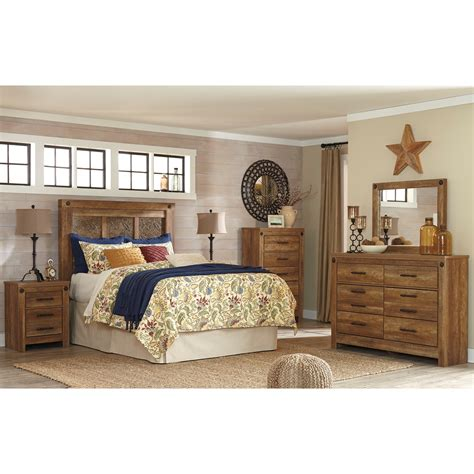 ashley furniture trishley 2pc bedroom set with queen sleigh bed signature design by ashley furniture ladimier queen
