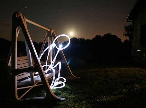 Light Me by Bonhomme Sur Banc Lightpainting Le Penseur