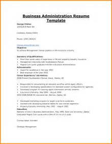Best Business Resume by 9 Business Administration Resume Bid Template