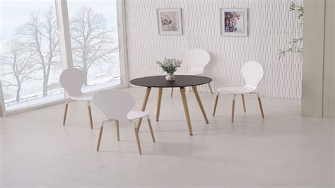 white dining table and 4 chairs wooden black dining table and 4 white chairs