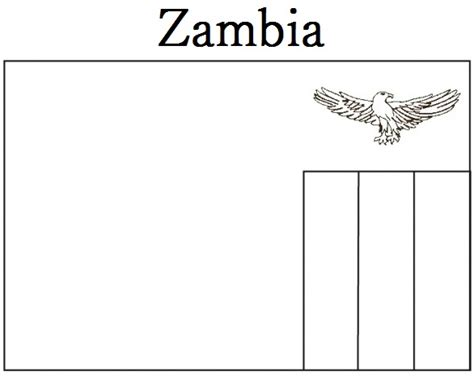 geography blog zambia flag coloring page