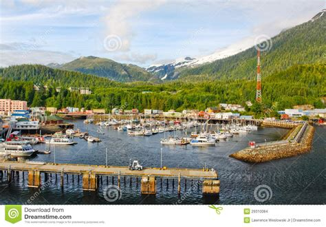 ketchikan alaska 922014 summer tour guides for ships photos alaska ketchikan small boat harbor editorial stock image
