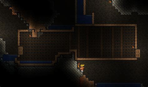 digging an underground room terraria how do i destroy the wooden blocks of underground rooms arqade