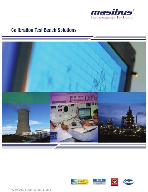 calibration test bench masibus calibration test bench solution catalogue pdf