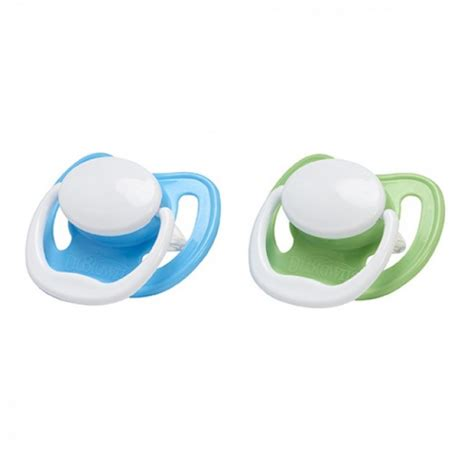 Dr Brown S 971 Pacifier With Handle 2 Pcs Size 2 6 12m Blue dr brown s pacifier with handle size 2 6 18m 2pcs