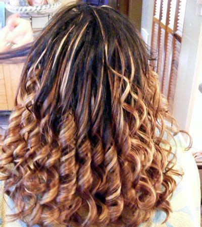 curly fusion hair extensions brown highlights curly wavy fusion