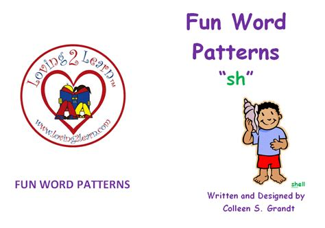 sh pattern words phoneme awareness blends blend sh book and a learn
