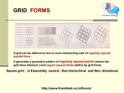 grid pattern concept theory of design form