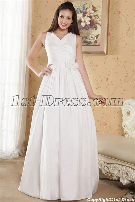 cheap v neckline casual wedding dresses for outdoor