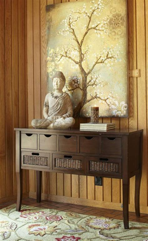 Buddha Room Decor Bring Serenity Into A Room By Combining Buddha Statues With A Floral Motif My Pier 1 Imports